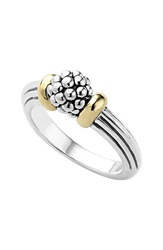 Lagos 'Caviar Forever' Small Dome Ring Silver Gold