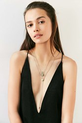 Urban Outfitters Spirited Layering Lariat Necklace Set Silver