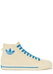 Adidas X Raf Simons Spirit Cream Canvas Hi Top Trainers