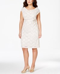 Connected Plus Size Sequined Lace Sheath Dress