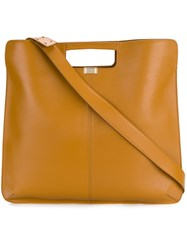 Rochas Cut Out Handle Tote Brown