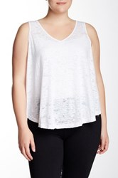 The Balance Collection Burnout V Neck Tank Plus Size White