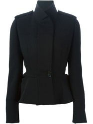 Alexander Mcqueen Military Peplum Jacket Black