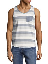 Sovereign Code Striped Cotton Tank Tee Blue