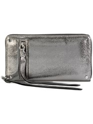 Mcq By Alexander Mcqueen Loveless Zip Around Wallet Metallic