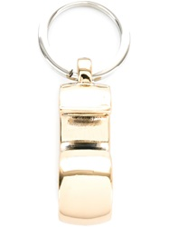 Mm6 Maison Margiela 'Six' Keyring Metallic