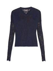 Christopher Kane V Neck Lace Sweater