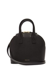 Mansur Gavriel Top Handle Mini Leather Bag Black Multi