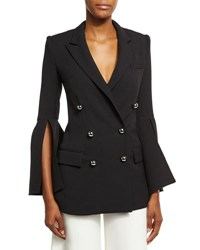 Prabal Gurung Bell Sleeve Double Breasted Jacket Black