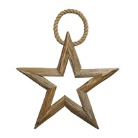 Nordal Wooden Christmas Star Decoration Small