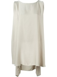 Dusan Asymmetric Draped Tank Top Nude And Neutrals