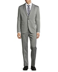 Just Cavalli Two Button Merino Wool Suit Black White