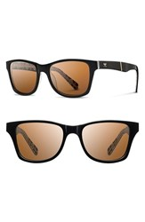 Women's Shwood 'Canby Pendleton' 54Mm Polarized Sunglasses Black Brown Polar