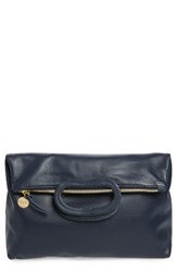 Clare V. Marcelle Lambskin Leather Foldover Clutch