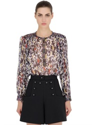 Isabel Marant Printed Silk Georgette Shirt