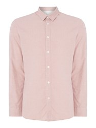 Selected Men's Homme Speckle Yarn Long Sleeve Shirt Pink