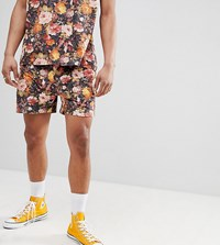 Milk It Shorts In Floral Print Pink