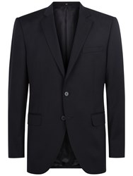 Jaeger Wool Regular Fit Suit Jacket Navy