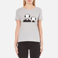 Karl Lagerfeld Women's And Choupette Music T Shirt Grey