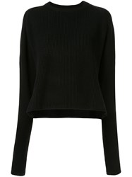 Y's Loose Fit Ribbed Knit Jumper 60