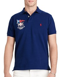 Polo Ralph Lauren Nautical Cotton Mesh Slim Fit Shirt Holiday Navy