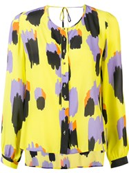 Just Cavalli Printed Button Shirt Yellow
