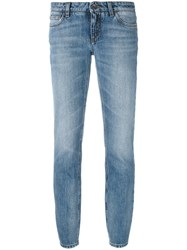 Dolce And Gabbana Slim Fit Cropped Jeans Blue