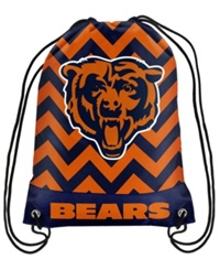 Forever Collectibles Chicago Bears Chevron Drawstring Backpack
