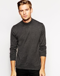 Selected Cotton Turtle Neck Jumper Midgrey