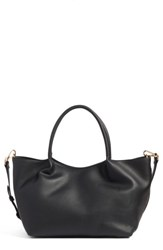 Sole Society Cindy Faux Leather Convertible Tote Black