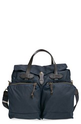 Men's Filson '24 Hour' Tin Cloth Briefcase Blue Navy