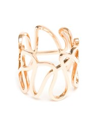Repossi 18Kt Rose Gold 'White Noise' Ring Pink And Purple