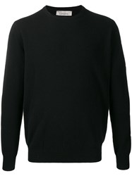 Laneus Round Neck Jumper Black