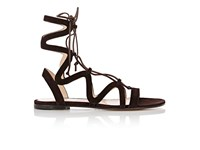 Gianvito Rossi Women's Lace Up Gladiator Sandals Tan