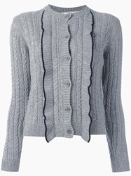 Chinti And Parker 'Aran' Cardigan Grey