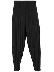 Homme Plisse Issey Miyake Pleated Pants Men Polyester 2 Black