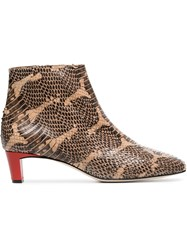 Atp Atelier Clusia 45 Snake Embossed Boots Brown
