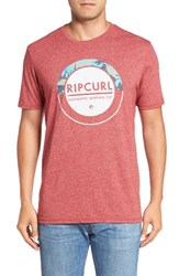 Rip Curl Men's Burst T Shirt Red