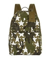 Valentino Star Camouflage Backpack Unisex Green