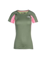 The North Face Topwear T Shirts Women Military Green