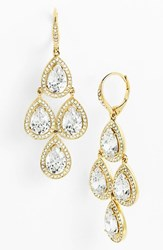 Women's Nadri Cubic Zirconia Chandelier Earrings Gold Clear Nordstrom Exclusive