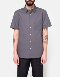 Editions M.R. Two Pocket Short Sleeve Shirt Navy Red