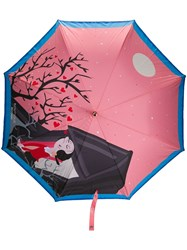 Moschino Printed Umbrella Pink