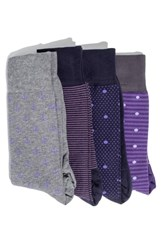 Hook Albert 4 Pack Socks Purple