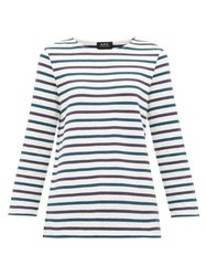 A.P.C. Catarina Breton Striped Cotton Top White Multi