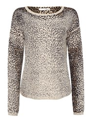 Oui Leopard Print Sweater Multi Coloured Multi Coloured