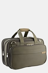 Briggs And Riley Men's Expandable Cabin Bag Green Olive