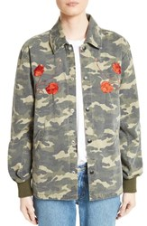 Opening Ceremony Women's Camo Tiger Coach Jacket