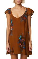 O'neill Maggie V Back Dress Golden Brown