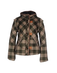 M.Grifoni Denim Coats And Jackets Jackets Women Military Green